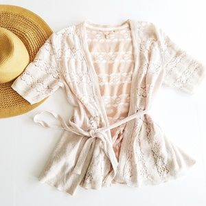 Anthropologie | Knitted & Knotted Belted Cardigan